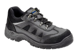 Tuffking Black Leather Safety Trainer S1P (Sizes 3 - 13)